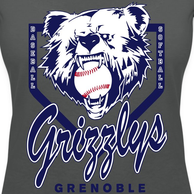 T-SHIRT GIRL DOP GRIZZLYS GREY