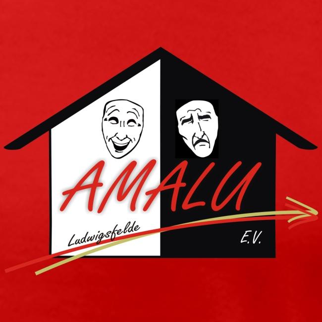 T-Shirt Damen mit Amalu Logo und Schrift hinten (weiß)