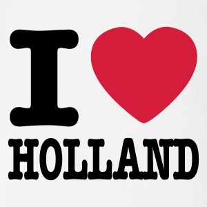 Wit i love holland NL Baby body - Baby bio-rompertje met korte mouwen