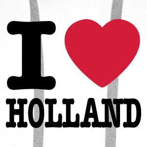 Wit i love holland NL Sweaters - Mannen Premium hoodie