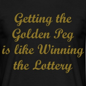 Golden Peg -  Fishing T-Shirt - Gold Print - Men's T-Shirt