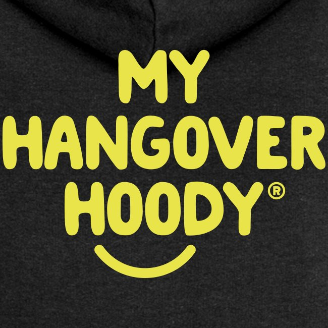 The Original My Hangover Hoody® - Black and Yellow