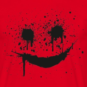 Rød smilie smiley smileys gesicht face T-shirts - Herre-T-shirt