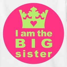 Weiß I am the Big Sister Kinder T-Shirts