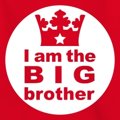 Rot I am the Big Brother Kinder T-Shirts