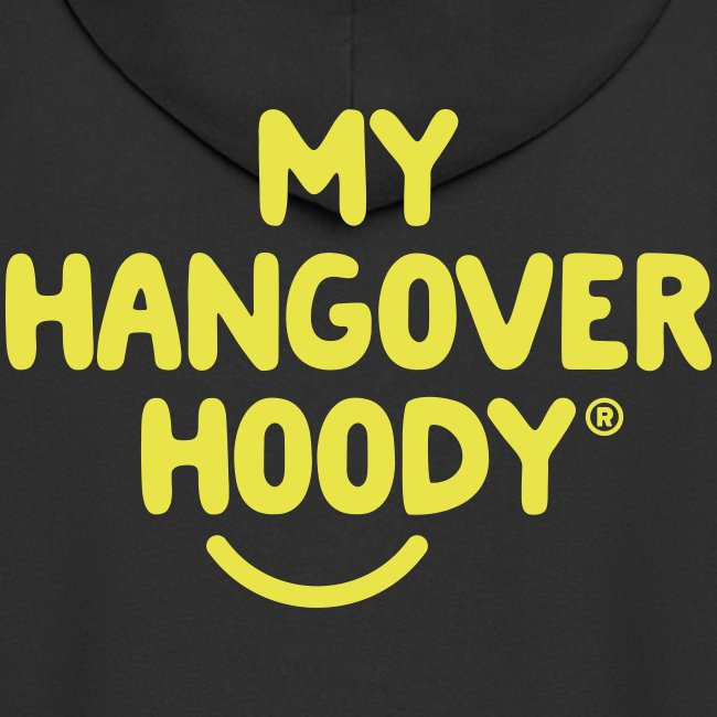 The Original My Hangover Hoody® - Black and Yellow