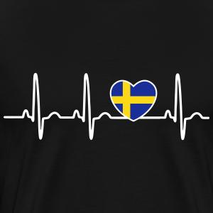 ekg Sverigeflagga hjärta