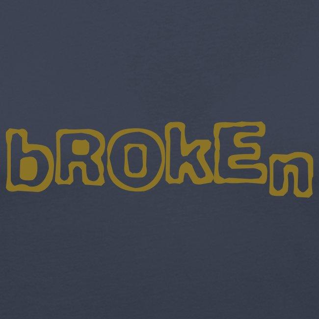 Broken T-Shirt (metallic gold)