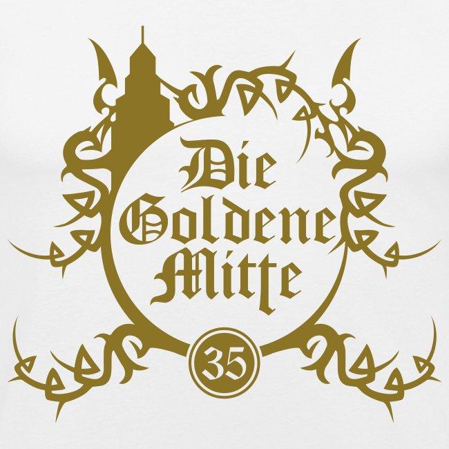 """T-Shirt """"DGM"""" (weiß/gold)"""