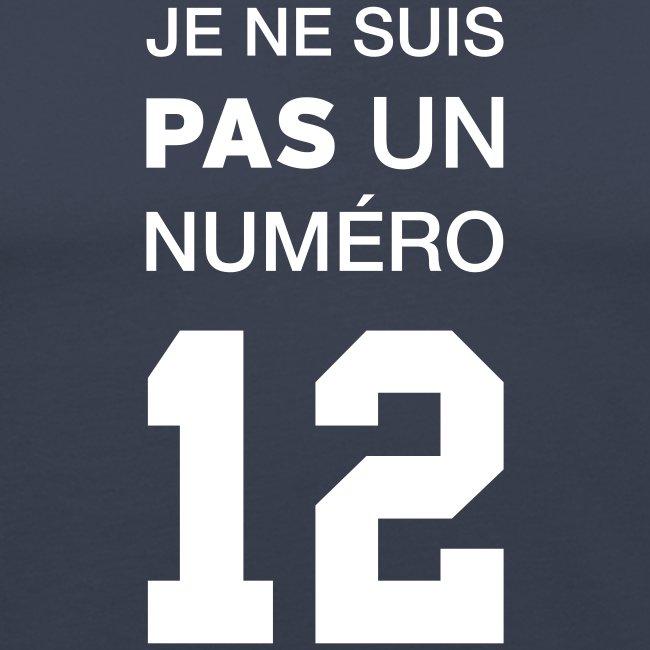 Je ne suis pas un numéro 12