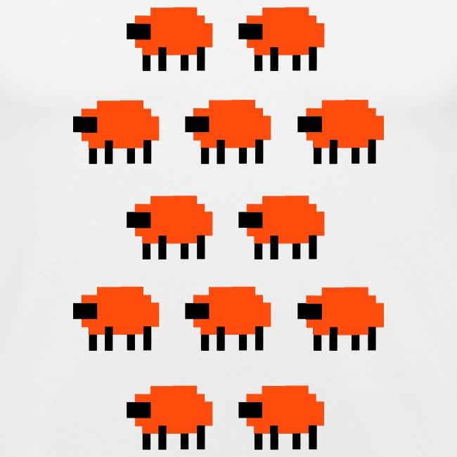 very cool blocky sheep t-shirt