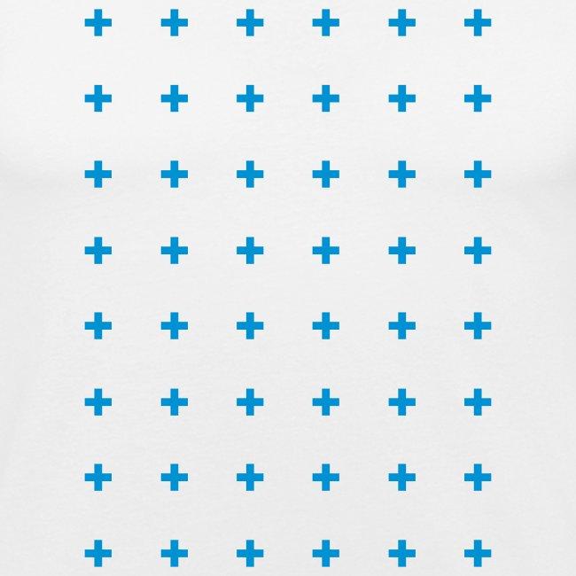cross pattern mens tee shirt