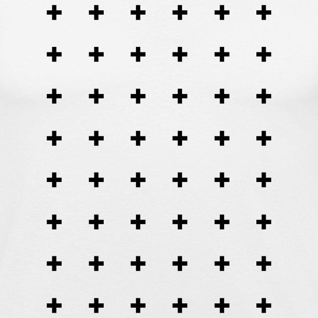 Cross patterned t-shirt