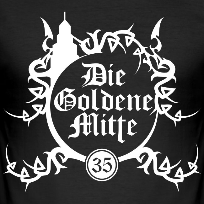 """T-Shirt """"DGM"""" (schwarz/weiß)"""