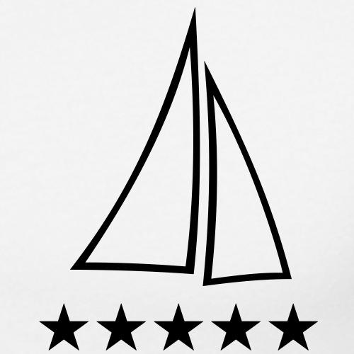 Segelboot Segelschiff Segelyacht segeln Logo Ahoi