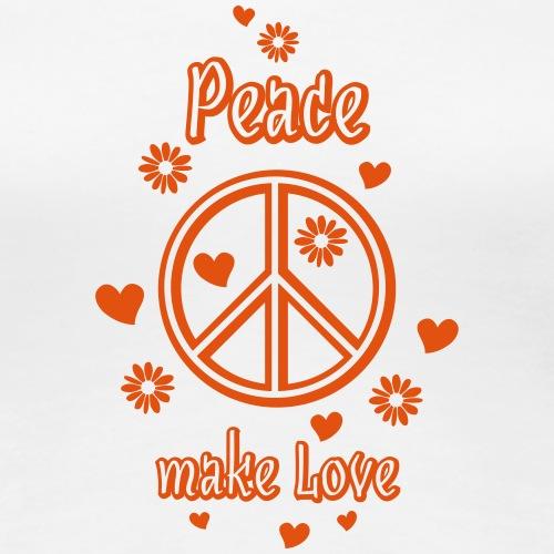 Peace-Zeichen make Love Frieden Liebe Herz Blumen