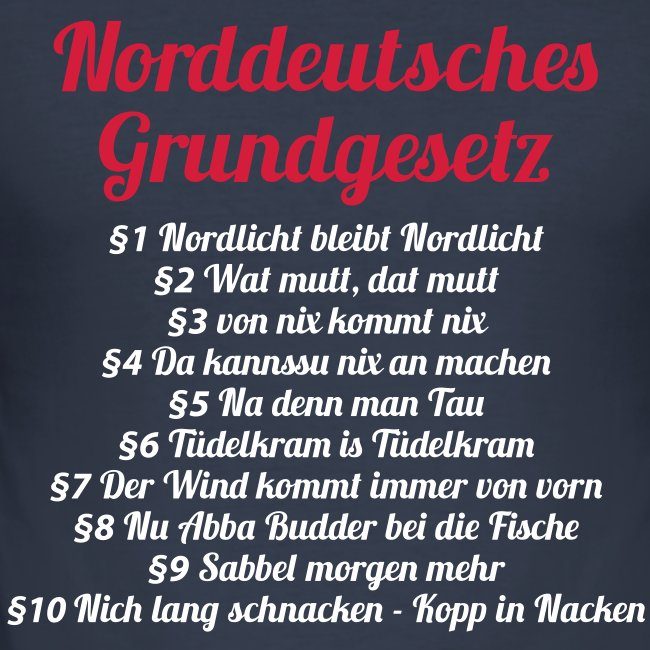 Matrose Norddeutsches Grundgesetz