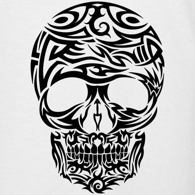 Tribal Skull Tattoo Sleeve: Tribal Tattoo Skull Front & Sleeves Men