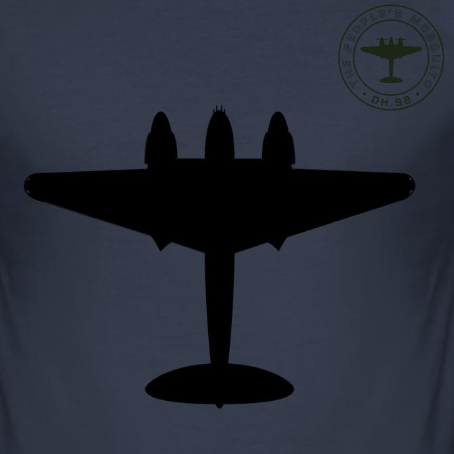 Mosquito Silhouette Slim-Fit T-Shirt - Navy