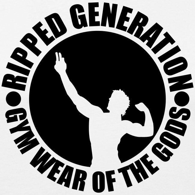 Miesten Slim Fit T-Paita Ripped Generation
