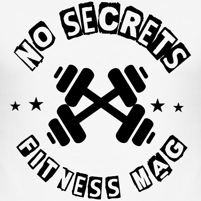 Tee shirt No Secrets Fitness Mag 100% coton