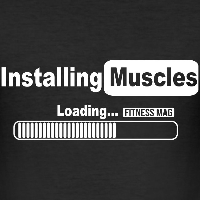 Tee shirt moulant Installing Muscles Fitness Mag 100% coton