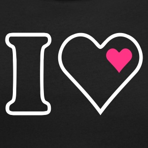 Nero I heart (outline, 2c) T-shirt - T-shirt scollata donna