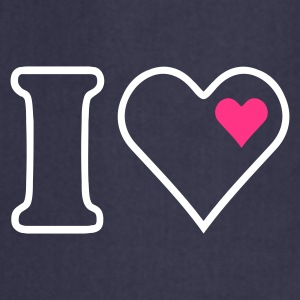 Navy I heart (outline, 2c) Kookschorten - Keukenschort