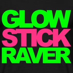 Black Glow Stick Raver 2 V2 Men's T-Shirts - Men's T-Shirt
