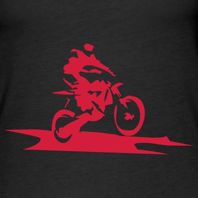 Biker-Motiv auf Racerback Vest Girlie-Shirt