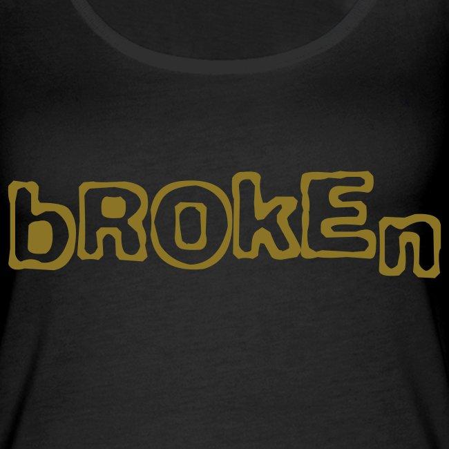 Broken sleeveless shirt (metallic gold)
