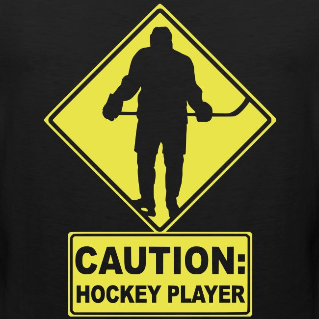 'CAUTION: Hockey Player' Men's Muscle T-Shirt