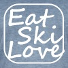 eat ski love - Mannen Vintage T-shirt