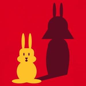 Rood Hase Helmchen / bunny and the dark side (2c) T-shirts - Mannen T-shirt