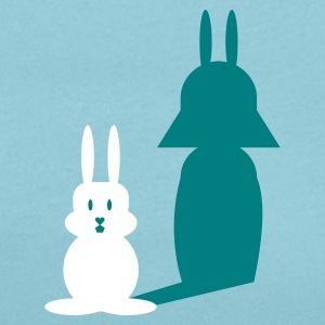 Sky blue Hase Helmchen / bunny and the dark side (2c) Women's T-Shirts - Women's Scoop Neck T-Shirt