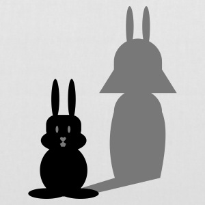 Wit Hase Helmchen / bunny and the dark side (2c) Tassen - Tas van stof