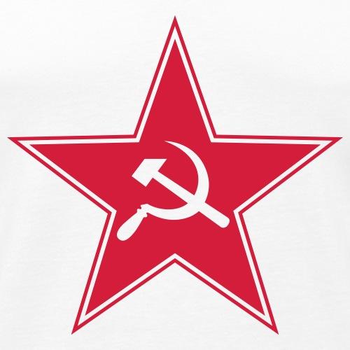 Sowjetstern mit Hammer u. Sichel