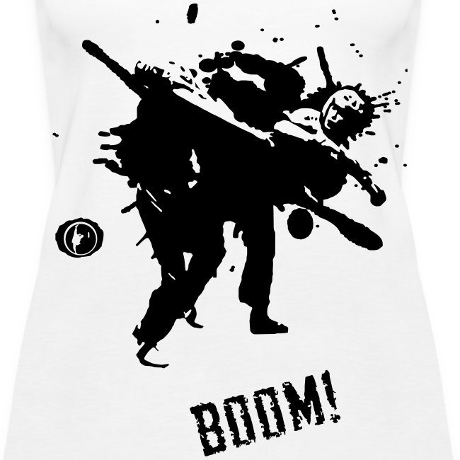 Ladies BOOM Vest (Black Print)