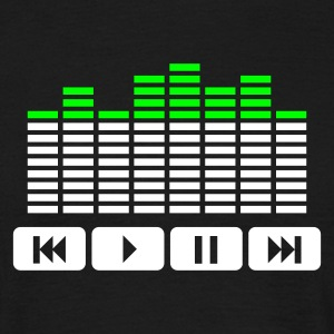 Sort Equalizer audio player dj T-shirts - Herre-T-shirt