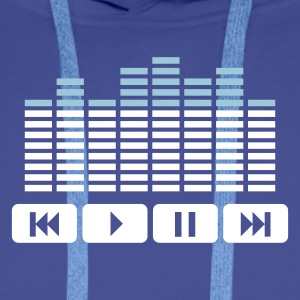 Bleu royal Equalizer audio player dj Sweatshirts - Sweat-shirt à capuche Premium pour hommes