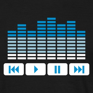 Sort Equalizer DJ music player T-shirts - Herre-T-shirt
