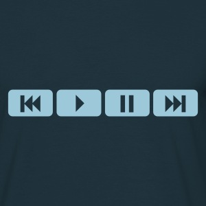 Navy player tasten music play T-Shirts - Männer T-Shirt