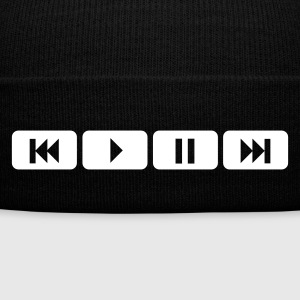Black player tasten music play Caps & Hats - Winter Hat