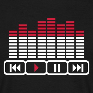 Sort player music Equalizer DJ tasten T-shirts - Herre-T-shirt