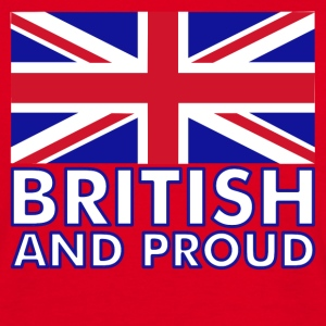 Red British and Proud Men's T-Shirts - Men's T-Shirt