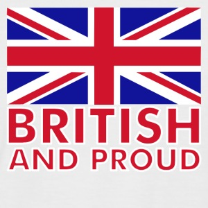 White/red British and Proud Men's T-Shirts - Men's Baseball T-Shirt