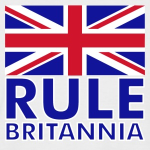 White/navy Rule Britannia Men's T-Shirts - Men's Baseball T-Shirt
