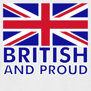 White/navy British and Proud Men's T-Shirts - Men's Baseball T-Shirt