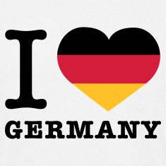 Weiß I love Germany © T-Shirts
