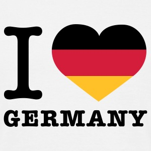 Weiß I love Germany © T-Shirts - T-skjorte for menn